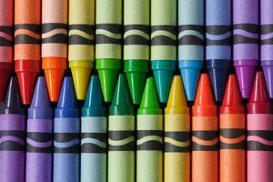 Crayons of a Rainbow II by Kathy Mahan
