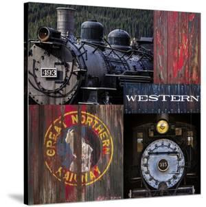 Historic Train Collage III by Kathy Mahan