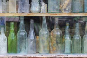 Old Bottles I by Kathy Mahan