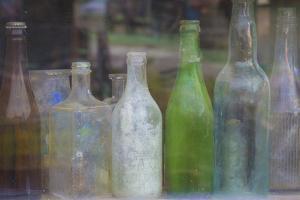 Old Bottles II by Kathy Mahan