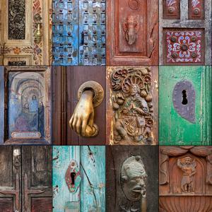 On the Door III by Kathy Mahan