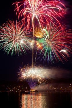 Poulsbo Fireworks II by Kathy Mahan