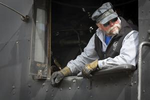 Train Conductor I by Kathy Mahan