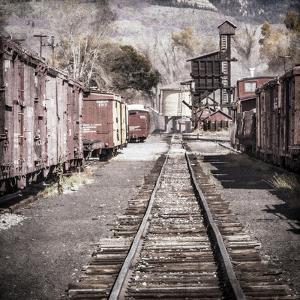 Vintage Train Yard III by Kathy Mahan