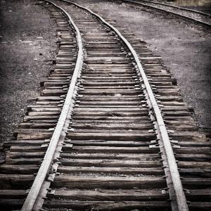 Vintage Train Yard IV by Kathy Mahan