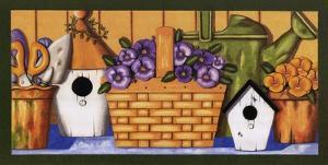 Pansies in Basket by Kathy Middlebrook