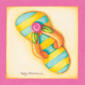 Pink Flip Flop II by Kathy Middlebrook