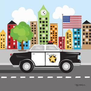 Police Car by Kathy Middlebrook