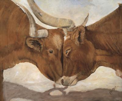 Hook 'em Horns II by Kathy Winkler