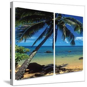 Beautiful Smini Beach 2 piece gallery-wrapped canvas by Kathy Yates