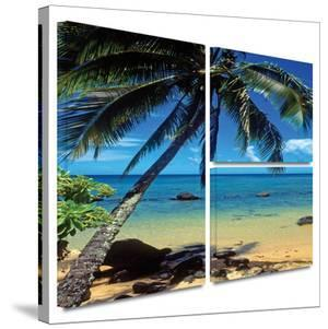 Beautiful Smini Beach Gallery-Wrapped Canvas by Kathy Yates