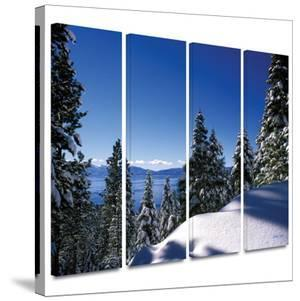 Lake Tahoe in Winter 4 piece gallery-wrapped canvas by Kathy Yates