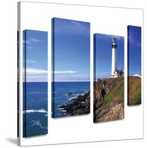 Pigeon Point Lighthouse 4 piece gallery-wrapped canvas by Kathy Yates