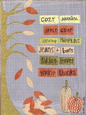 Autumn Words by Katie Doucette