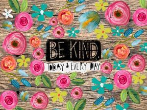 Be Kind Wood Background by Katie Doucette