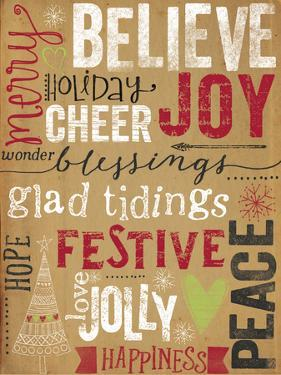 Christmas Kraft Typography by Katie Doucette