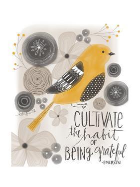 Grateful Emerson Quote by Katie Doucette