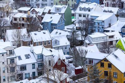 Iceland, Reykjavik. Reykjavik, Capital City of Iceland, Frozen by Winter.