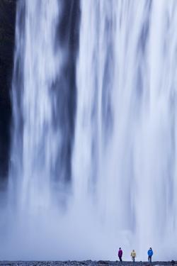 Iceland, Skogafoss. the 62M High Waterfall of Skogafoss at the Western Edge of Skogar. by Katie Garrod