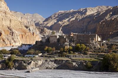 Nepal, Mustang, Chusang. the Old Fort at Chusang, Deep in the Kali Gandaki Gorge.