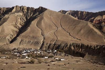 Nepal, Mustang, Ghemi. the Small Village of Ghemi.