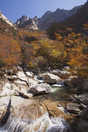 North Korea, Kumgang. Kumgang Mountains in Autumn.