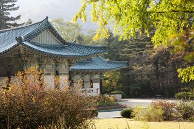 North Korea, Myohyang. Pohyon Temple, Located on the Slopes of the Myohyang Mountains