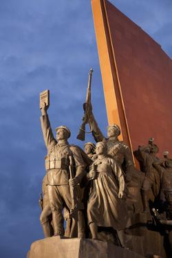 North Korea, Pyongyang. the Socialist Revolution Stone Monument Lined with 228 Bronze Figures by Katie Garrod