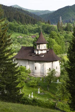 Romania, Bucovina, Sucevita. the Church and Cemetery Attached to Sucevita Monastery.