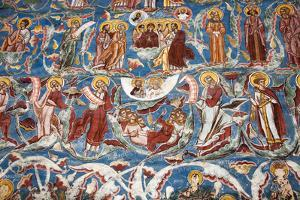 Romania, Moldavia, Moldovita. a Wall Painting at Moldovita Monastery. by Katie Garrod