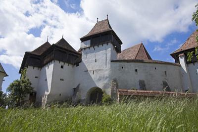 Romania, Transylvania, Viscri. the Fortified Saxon Church in the Village of Viscri.
