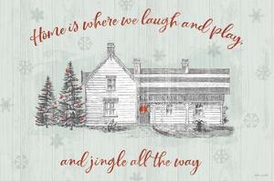Farmhouse Christmas I by Katie Pertiet