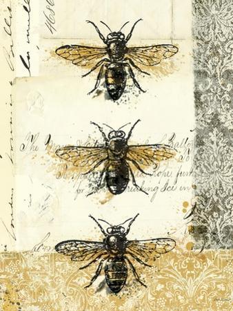 Golden Bees n Butterflies No 1 by Katie Pertiet