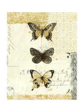 Golden Bees n Butterflies No 2 by Katie Pertiet