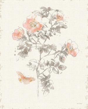 Watery Blooms III Gray Cream by Katie Pertiet