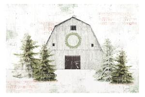 Wooded Holiday I Barn by Katie Pertiet