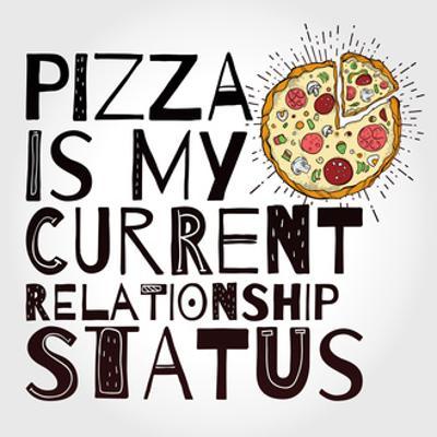 Funny Pizza Poster Doodle Style. Vector. by Katja Gerasimova