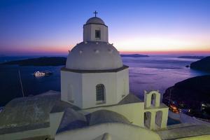 Church in Thira, Santorini, Cyclades, Greece by Katja Kreder