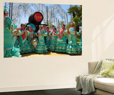 Flamenco Dancers, Feria Del Caballo in Jerez De La Frontera, Andalusia, Spain by Katja Kreder