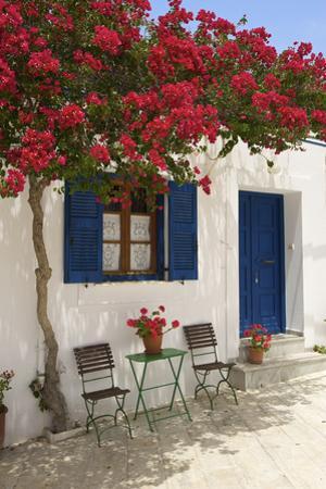 Tavern in Lefkes, Paros Island, Cyclades, Greece by Katja Kreder