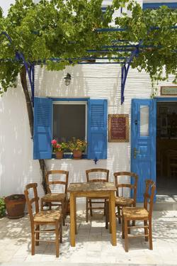 Tavern in Lefkes, Paros Island, Cyclades, Greece by Katja Kreder