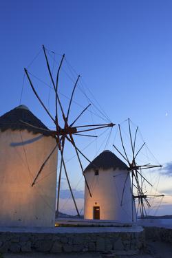 Windmills Kato Mili, Mykonos-Town, Mykonos, Cyclades, Greece by Katja Kreder