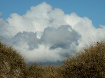 Grassy Sand Dunes and Clouds