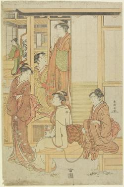 A Group of Ladies on a Veranda, C. 1780-1795 by Katsukawa Shunsho