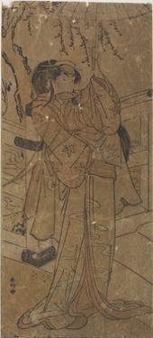An Actor in a Female Role, 1760-1780 by Katsukawa Shunsho