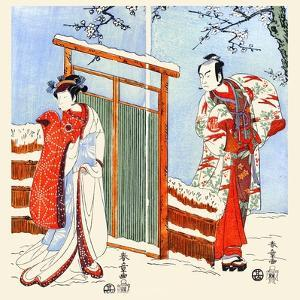 Japanese Romance by Katsukawa Shunsho