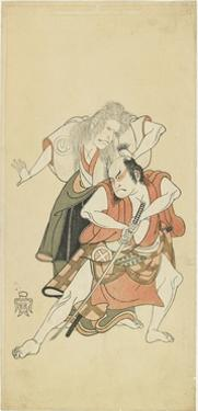 Sawamura Sojuro II and Otani Hiroji III, 1768 by Katsukawa Shunsho