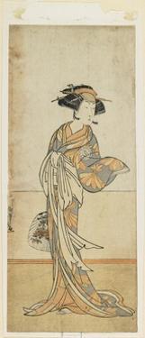 Segawa Kikunoju in a Female Role, Late 18th Century by Katsukawa Shunsho