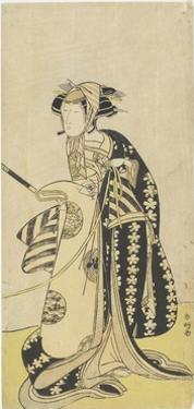 The Actor Onoe Matsusuke in a Female Role, 1760-1780 by Katsukawa Shunsho
