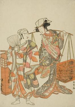 The Actors Ichimura Uzaemon Ix (Left) and Nakamura Tomijuro I by Katsukawa Shunsho